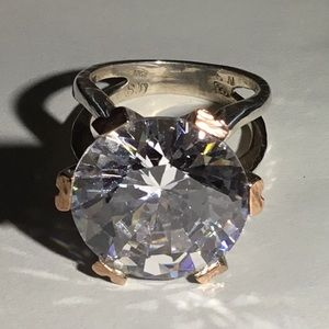 Jewelry - Huge CZ Sterling Ring